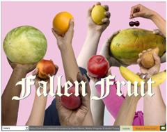 Fallen Fruit Web Site Screenshot