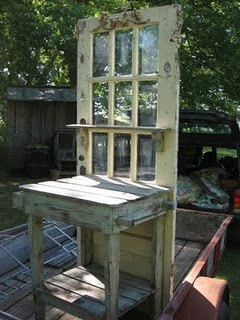 Garden decor potting bench from old door a gardener 39 s - Used exterior doors for sale near me ...