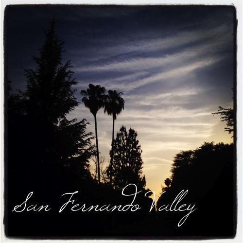 San Fernando Valley Evening via Instagram