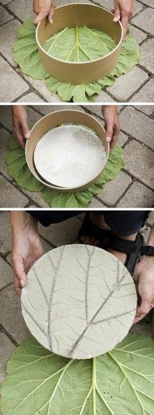 Concreate leaf print