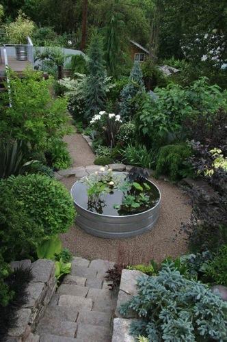 Garden Decor Stock Tanks As Garden Ponds A Gardener 39 S