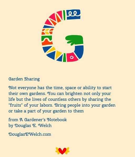 Garden Sharing</p>  <p>Not everyone has the time, space or ability to start their own gardens.