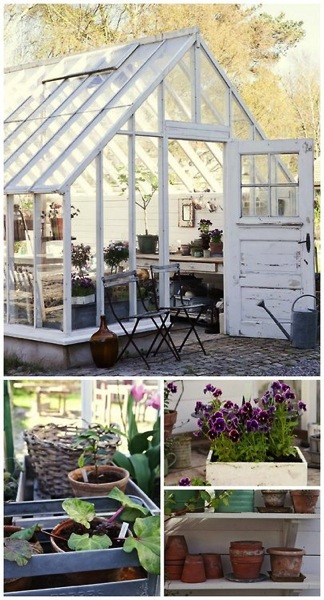 Garden Decor: Greenhouse scenes and decor from Garden Gallery