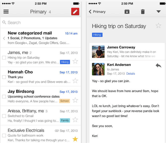 Gmail for iOS has been updated, now supports even further integration with Google Drive via iPhone Hacks