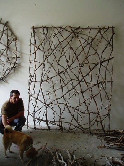 Twig Screen via Salvage Savvy