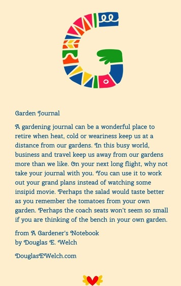 A Garden Journal from A Gardener's Notebook