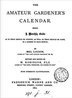 Amateur garden title page