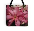 Pink rhododendron tote