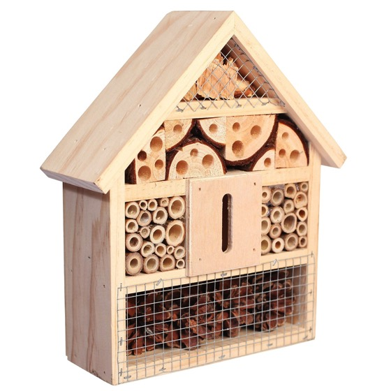 Garden decor niteangel natural insect hotel bee bug house for Hotel decor for sale