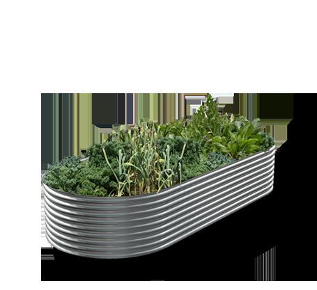 Slimline steel garden bed