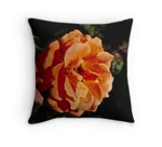 Coral rose pillow