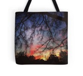 Winter sunset tote