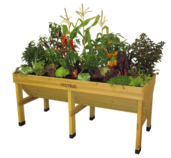 VegTrug Fir Wood Elevated Planter