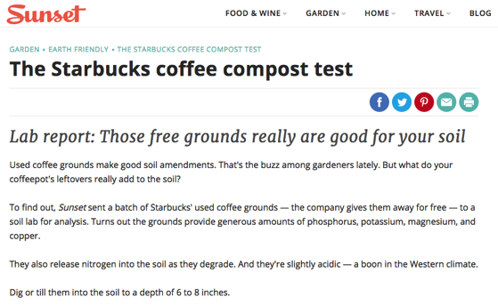 Noted: The Starbucks coffee compost test