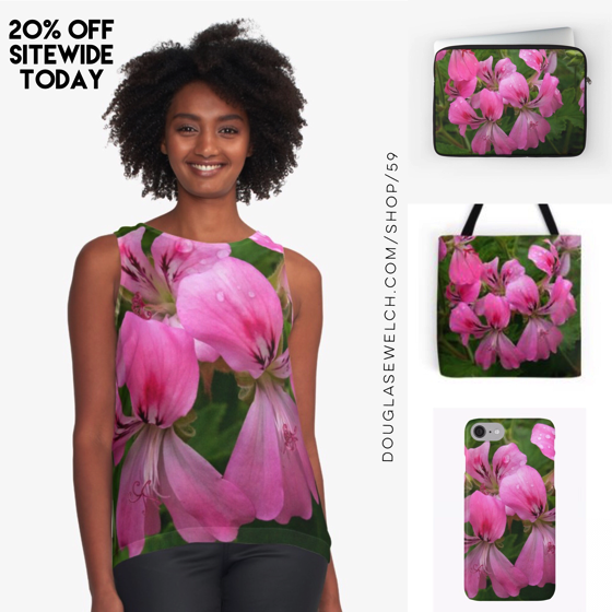 20% OFF - Labor Day Sale Pink Geranium (Pelargonium) Bags, Smartphone Covers and Much More!