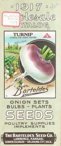 Historical Seed Catalogs: Barteldes Seed 1917 Wholesale Catalog - 4 in a series