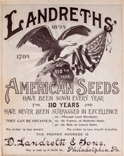 Historical Seed Catalogs: D. Landreth Seed Company  (1894) - 3 in a series