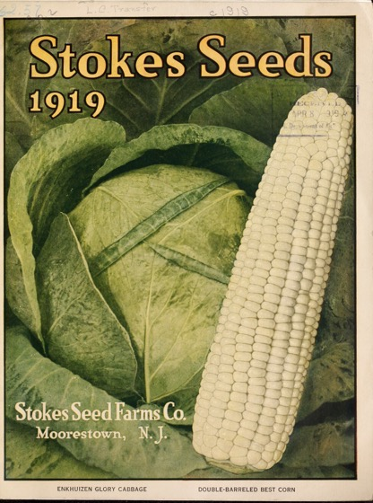 Historical Seed Catalogs:  Catalog: Stokes seeds (1919) - 10 in a series