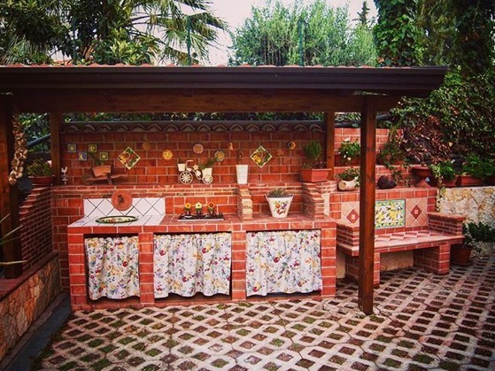 Garden Decor: Outdoor Kitchen (Cucina Fuori) In Our Sicilian Family's Garden
