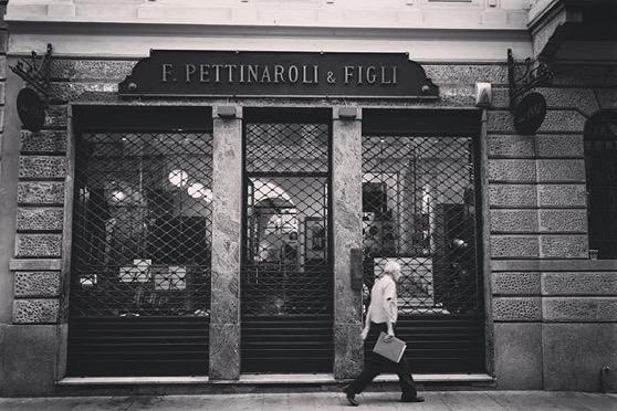 A Milano Street Scene - Pettinaroli & Figli