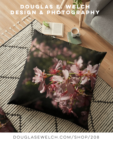 Bring Spring Back With These Sakura Floor Pillows and More From Douglas E. Welch Design and Photography [For Sale]