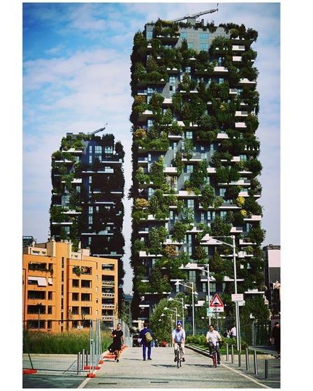 Bosco Verticale, Milano, Italy via Instagram