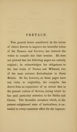 Historical Garden Books: Treatise culture of the dahlia and cactus by E. Sayers (1839) - 44 in a series