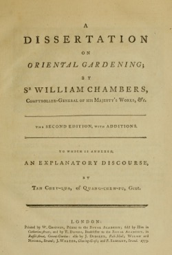 Historical Garden Books: A dissertation on oriental gardening by Sir William Chambers, ,  (1773) - 46 in a series