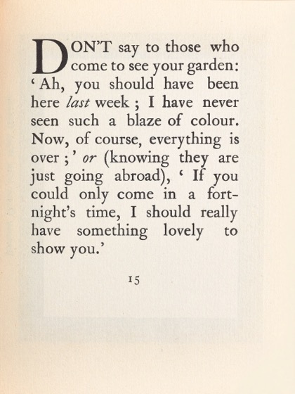 From Gardening Don'ts (1913) by M.C. 08