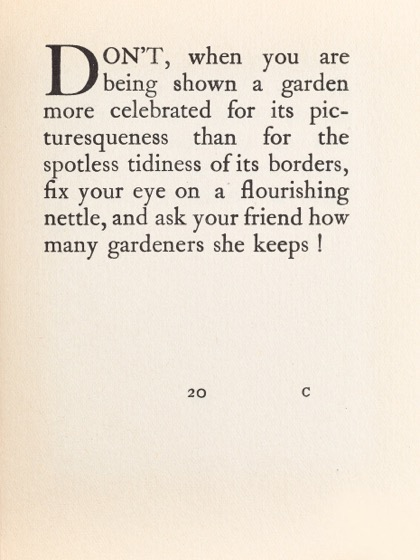 From Gardening Don'ts (1913) by M.C. 12