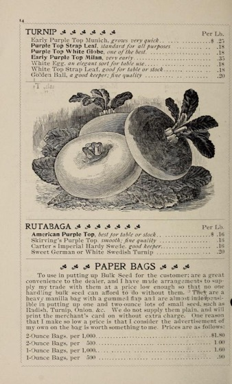 Historical Seed Catalogs: Webster's mammoth packet & bulk seeds (1900) - 54 in a series