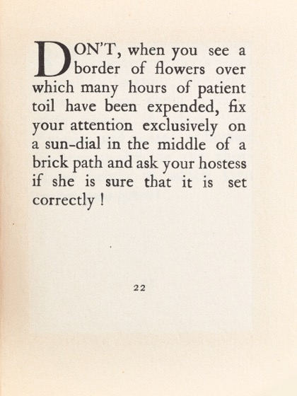 From Gardening Don'ts (1913) by M.C. 14