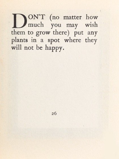 From Gardening Don'ts (1913) by M.C. 18