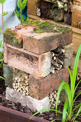 GAP 0196017 Bug hotel made from bricks and bamboo