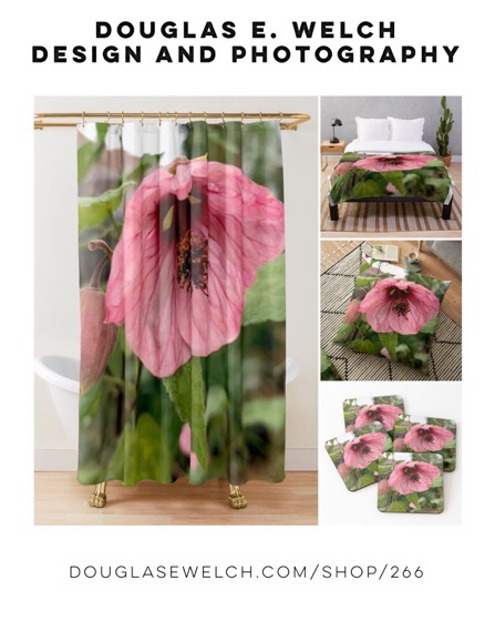 Dress Up Your Home With These Abutilon Shower Curtains, Pillows, and More From Douglas E. Welch Design and Photography [For Sale]