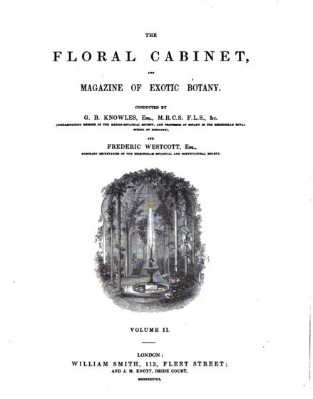 Historical Garden Books - 76 in a series - The Floral cabinet and magazine of exotic botany Vol 2 (1837) by G. B. (George Beauchamp) Knowles