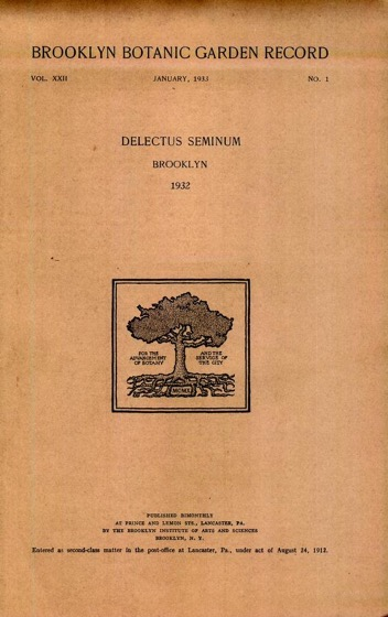 Historical Garden Books - 86 in a series - Brooklyn Botanic Garden Record (1912)