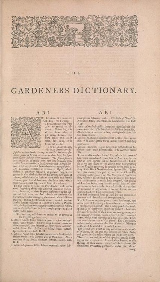 Historical Garden Books - 87 in a series - The gardeners dictionary (1768)
