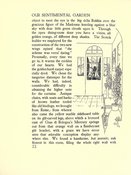Artwork from Our Sentimental Garden (1914) - 12 n a series