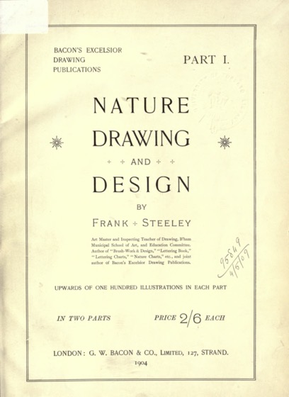Vintage Botanical Prints - 3 in a series - Nature drawing and design ((1903) by Frank Steeley
