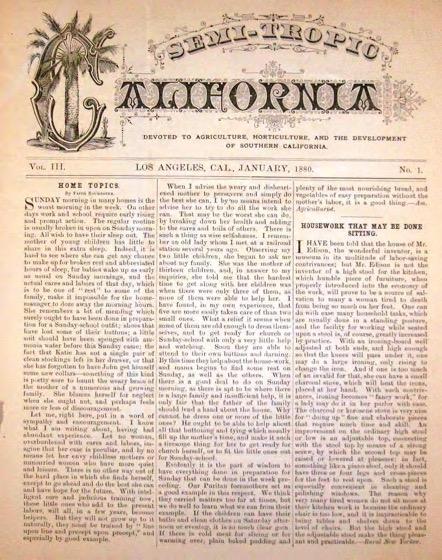 Historical Garden Books - 93 in a series - Semi-Tropic California And Southern California Horticulturist (1880)