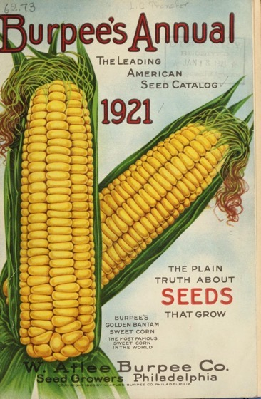Historical Seed Catalogs - 88 in a series - Burpees Annual (1921) cover