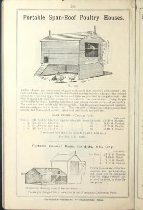 Portable Span-Roof Poultry House Page of Catalog