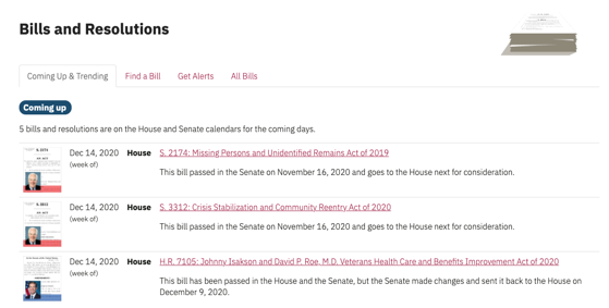 Civics - 5 in a Series - Tracking Federal Legislation in Process with GovTrack.us