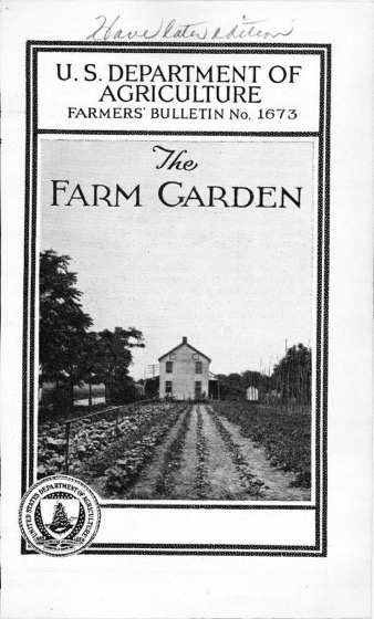 Historical Garden Books - 110 in a series - The farm garden (1931) by James H. Beattie and W. R.Beattie
