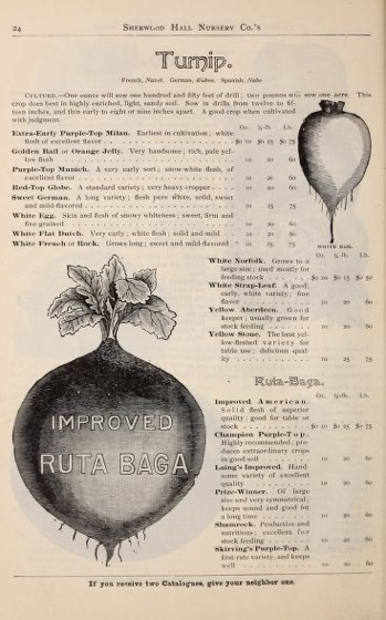 Historical Seed Catalogs - 96 in a series - Sherwood Hall Nursery Co. (1893)
