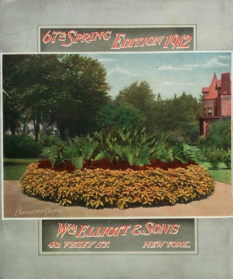 Historical Seed Catalogs - 98 in a series - General catalogue for William Elliott & Sons (1912) Back Cover
