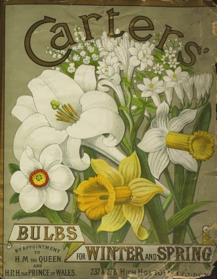 Historical Seed Catalogs - 99 in a series - Bulbs For Winter and Spring by James Carter & Co. (1842) Cover