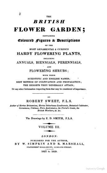 Historical Garden Books - 122 in a series - The British flower garden (1823)