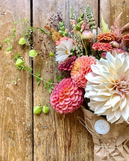 Dazzling Dahlias - 64 in a series - Dahlia Bouquet from Fleur Flower Farm on Instagram